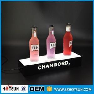 Acrylic Led Lighted liquor Shelf Bottle Display