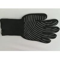 Quality Silicone Cooking Heat Resistant Gloves 500℃ High Temp Resistance Non Slip for sale