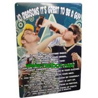 Quality A4 size tin bar sign tin poster metal advertising board for beer promotion for sale