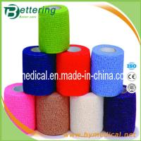 Quality Latex free Glue non woven compression bandage coflex bandage self adhesive bandage for sale