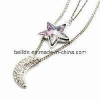 Quality Gemstone Jewelry Alloy Necklace for sale