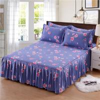 Quality 3pcs Floral Fitted Sheet Cover Graceful Bedspread Lace Fitted Sheet Bedroom Bed Cover Skirt bed linen for sale