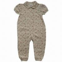 Buy cheap Baby Rompers for Spring/Fall Seasons, Made of 200g Interlock and 100% Cotton from wholesalers