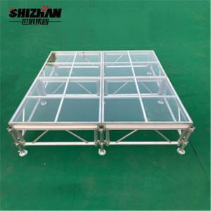 Quality Aluminum Fashion Show Glass Stage Adjustable Acrylic Platform for sale