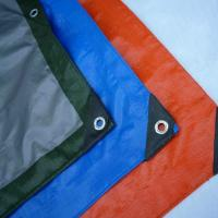 Quality Waterproof PE Tarpaulin Sheet / Polyethylene Sheet Roll Ground Cover for sale