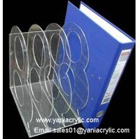 Best Four Tiers Booklet Display Literature Sticking Transparent Acrylic Brochure Holder For Office wholesale