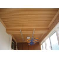 China Waterproof Wood Decorative Ceiling Panels With Brushed Surface For Bathroom on sale