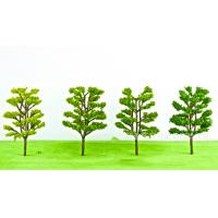 Quality Resin crafts decoration micro - landscape architecture model material simulation tree landscape green plastic tree for sale