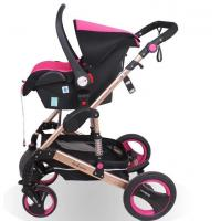 Quality OEM high view baby stroller 3 in 1 carriage with EN1888 for sale