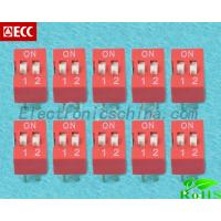 Best China Electronic Component Red 2.54mm Pitch 2 Positions Ways Slide Type Switch Dip Switch wholesale