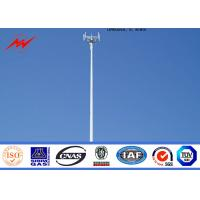 Best Steel 95ft Telecommunication Mono Pole Mobile Cell Phone Tower  Tapered Flanged Steel Poles wholesale