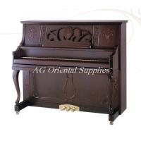 China 88-KEY New Acoustic wooden upright Piano With elegant carving walnut matt color AG-125Y2 on sale