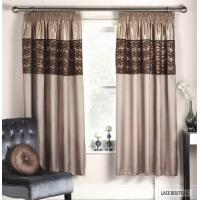 Quality Window Lace Faux Silk Curtains for sale