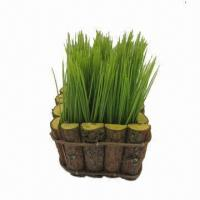 Buy cheap Artificial Plastic Potted Grass Silk Flower Plant for Home Decoration from wholesalers