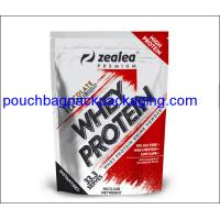 Buy cheap Zipper stand up pouch, Top zip lock plastic bag, Resealable aluminum foil bag for protein from wholesalers