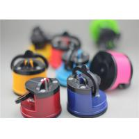 China Pocket Sized Suction Cup Knife Sharpener Kitchen Accessory With Different Color on sale