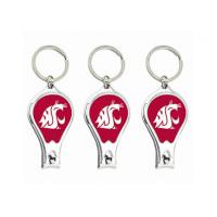 Quality Metal Nail Clipper Bottle Opener Keychain With Collegiate Sport Team Logos for sale