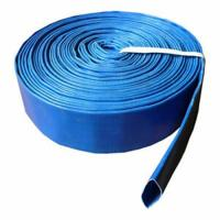 Quality Cheaper blue pvc layflat hose pvc discharge hose water discharge hose for sale