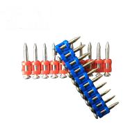 Quality Plastic Collated Concrete Nail Pins , Galvanized Gas Concrete Nails For Nail Gun for sale