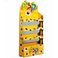 Buy cheap Yellow Double-Side POS Cardboard Display Stand For Retail / Supermarket Promotion from wholesalers
