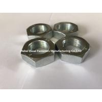 Quality Carbon Steel Hex Thin Nut Din439 M27 Plain Black Zinc Plated Oxide And HDG for sale