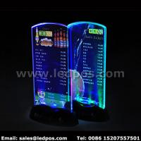 Best Battery Powered LED Menu Card Sign Holder wholesale