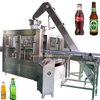 Buy cheap SUS304 Carbonated Glass Bottle Filling Line With Touch Screen from wholesalers