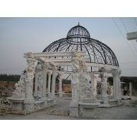 Quality Outdoor Garden Deco stone carving marble gazebo, china marble sculpture supplier for sale