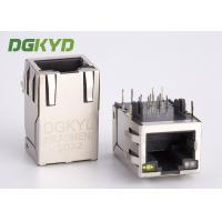 Quality Shieded Cat6 RJ45 jack 8 pin network connector Integrated magnetics for Router for sale