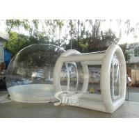 China Outdoor transparent inflatable camping bubble tent with frame tunnel entrance on sale