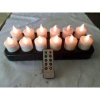 Buy cheap yellow light flameless rechargeable Electric LED Candles with long last time from wholesalers