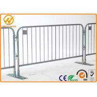 Best Temporary metal Fencing Crowd Control Barrier , road safety barriers Reinforced Fixed Legs wholesale
