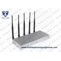 China 5 Bands Mobile Phone Signal Jammer Desktop Type Air Pressure 86 - 106kPa on sale