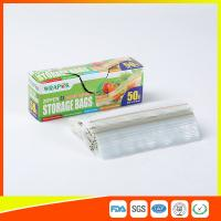 Quality Clear Reclosable Plastic Food Storage Bags Zip Seal With Private Lable for sale
