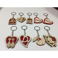 Quality wholesale wood keychain school gift wood craft key chain tag for sale