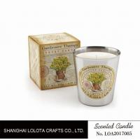 Quality Beautiful Smelling Home Scents Candles , Aromatherapy Soy Candles Amber Fragrance for sale