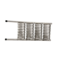 Quality 50M3/H Titanium Tube Heat Exchanger High Transfer Refrigeration Parts for sale