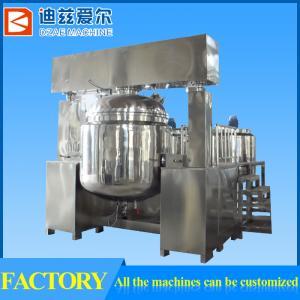 China 1000L vacuum homogenizing emulsifying mixer, equipment for cosmetics, liquid soap, shampoo on sale