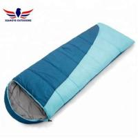 Quality Car Camping Packable Backpacking Envelope Sleeping Bag Blue and Orange for sale