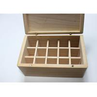 Quality Pine Wood Handmade Wooden Boxes Nature Color Hinged Lid For Essential Oil for sale