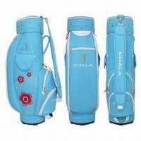 Buy cheap Golf Bags, Made of PU Leather Material, 5 Pockets and 6 Individual Full Length from wholesalers