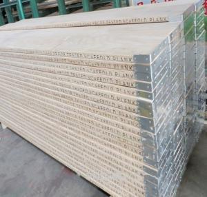 China Moisture Proof  Wood Scaffold Planks Width 220/ 225/ 230mm  Density 600 Kg/M3 on sale