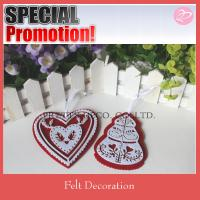 Best Felt heart and tree style christmas ornamental crafts for tree decoration wholesale