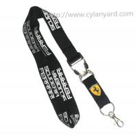 Quality Discount imprinted polyester lanyards with metal buckle, custom lanyards wholesale, MOQ300 for sale