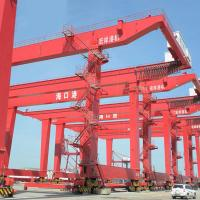 Quality Quay Gantry Crane  For Lifting Containers Drawing On Seaport 30.5 - 60T for sale