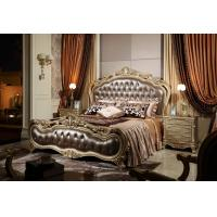 China Luxury furniture online stores for Big house and Villa of King bed by Craft wood with Italy Leather headboard on sale
