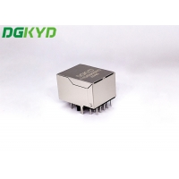 Quality Modular Single Port RJ45 Gigabit Connector With Filter Outlet for sale