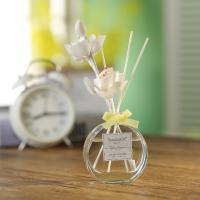 Buy Transparent Home Reed Diffuser Round Bottle Simple Style With Gift Box at wholesale prices