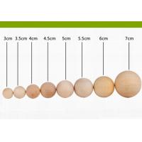 Quality Small Cherry Decorative Wooden Balls Varnished 60 mm For Crafts for sale