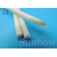 Best 7 mm Silicon Fiberglass Insulated Tube Braided Fiberglass Sleeve UL VW-1 200 ℃ White wholesale